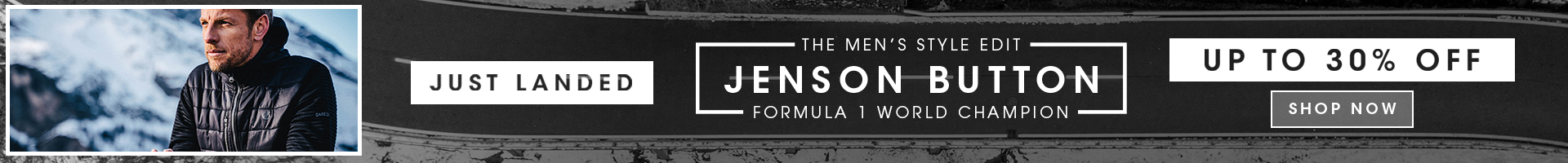 Men's Style Edit With Jenson Button Up To 30% Off